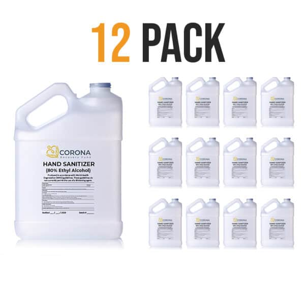 12 pack of 1 gallon hand sanitizer