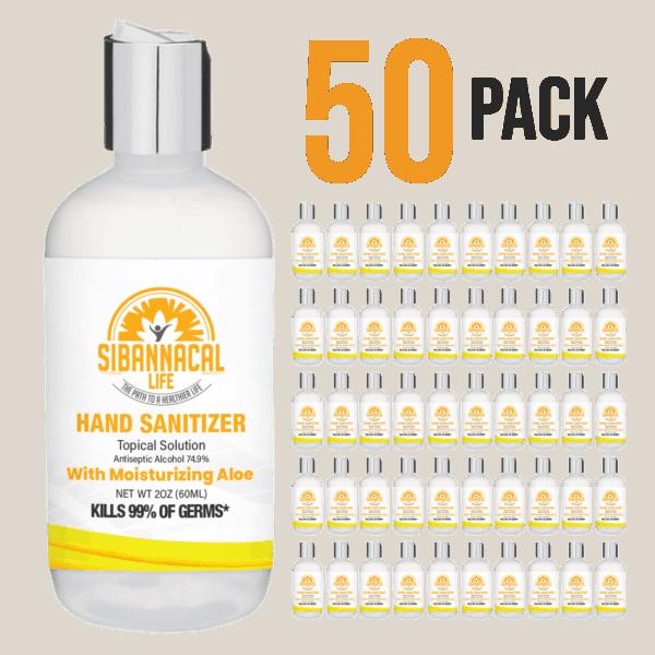 50 pack of 2oz hand sanitizer